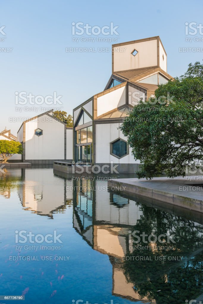 Suzhou museum. Suzhou museum is a museum of ancient Chinese art, ancient Chinese paintings calligraphy and handmade crafts. stock photo