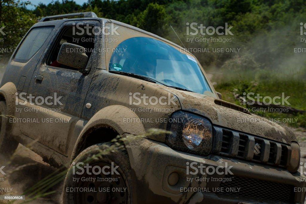 Suzuki Jimny Auf Dem Geländeparcours des Messe