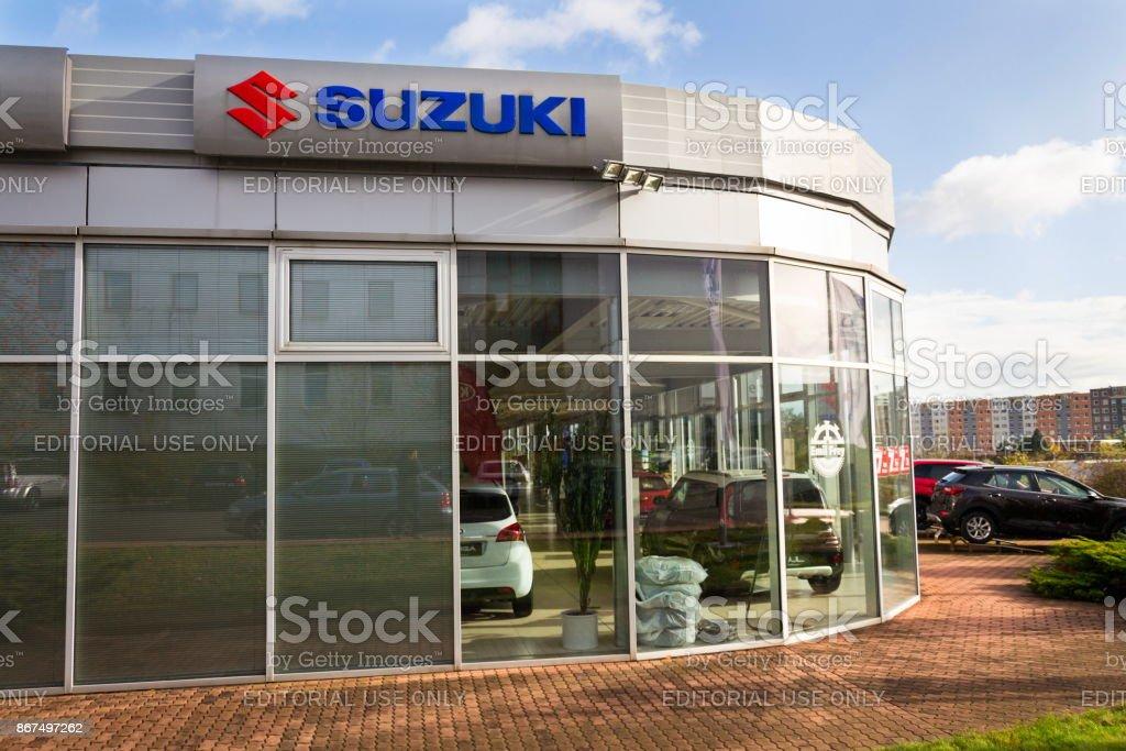 Suzuki Motor corporation logo on dealership building