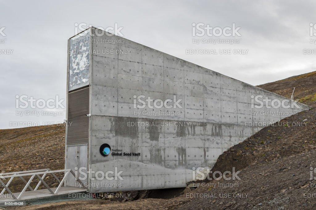 Svalbard Global Seed Vault stock photo