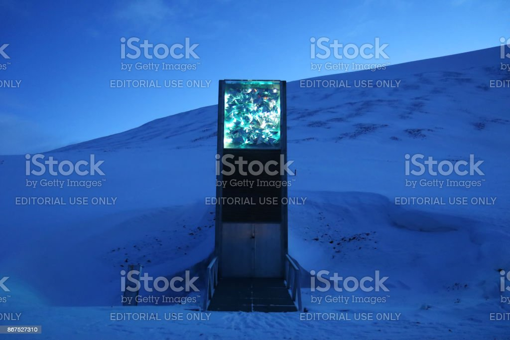 Svalbard global seed vault  - the world´s largest seed collection. stock photo