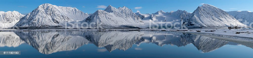 Svalbard Panorama stock photo