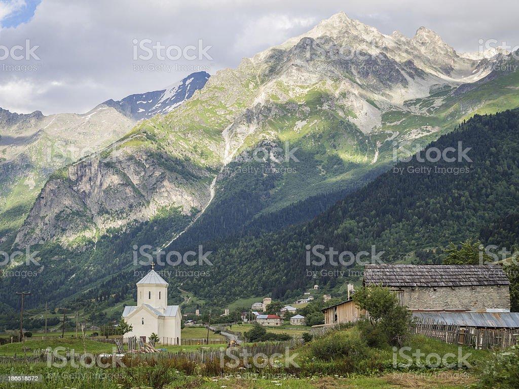 Svaneti royalty-free stock photo