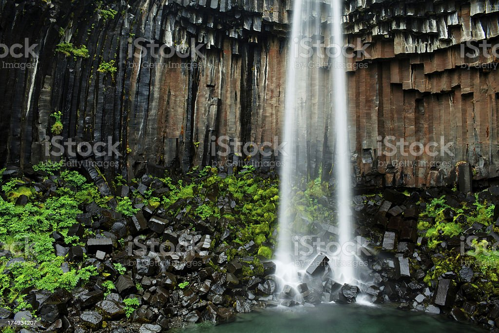 Svartifoss royalty-free stock photo