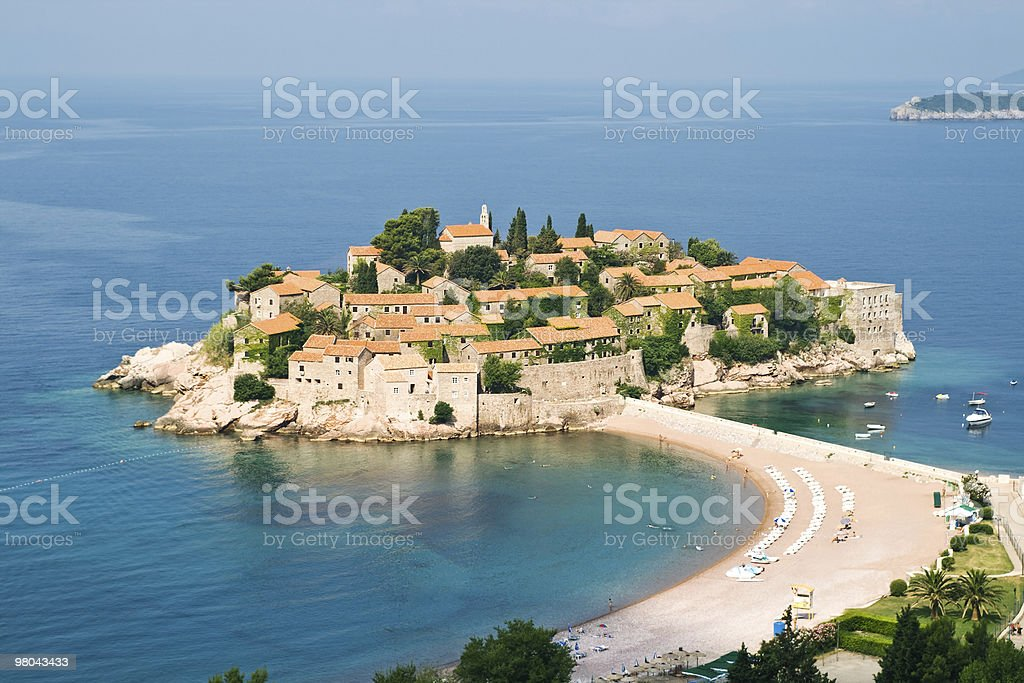 Sveti Stefan in Montenegro royalty-free stock photo