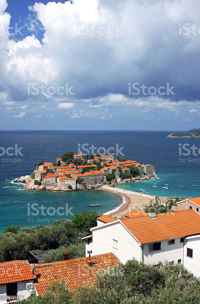 Sveti Stefan island, Montenegro royalty-free stock photo
