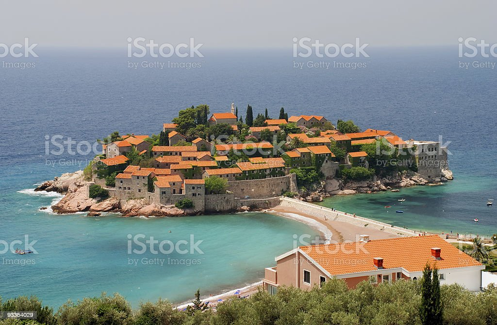 Sveti Stefan Island royalty-free stock photo