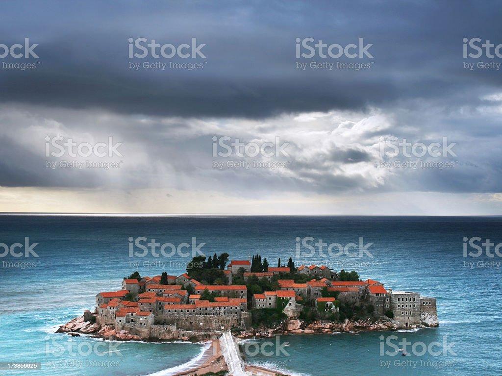 Sveti Stefan royalty-free stock photo