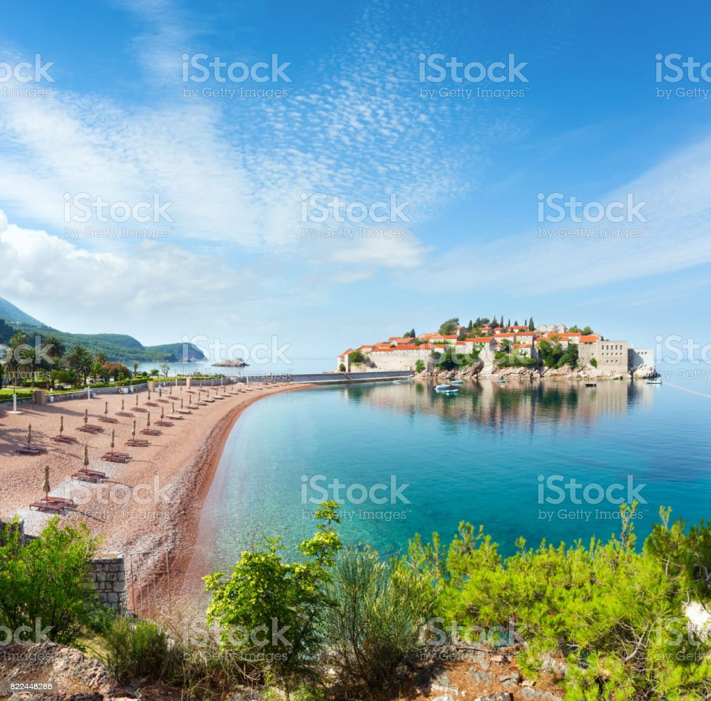 Sveti Stefan Meer Insel (Montenegro). – Foto