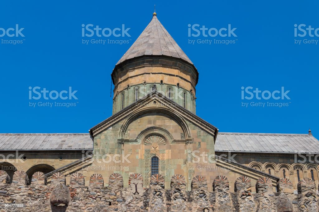 Svetitskhoveli Orthodox Cathedral (UNESCO World Heritage site) in Mtskheta, Georgia royalty-free stock photo