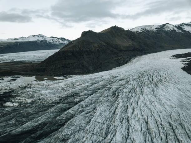 Svinafellsjokull glacier in Iceland stock photo