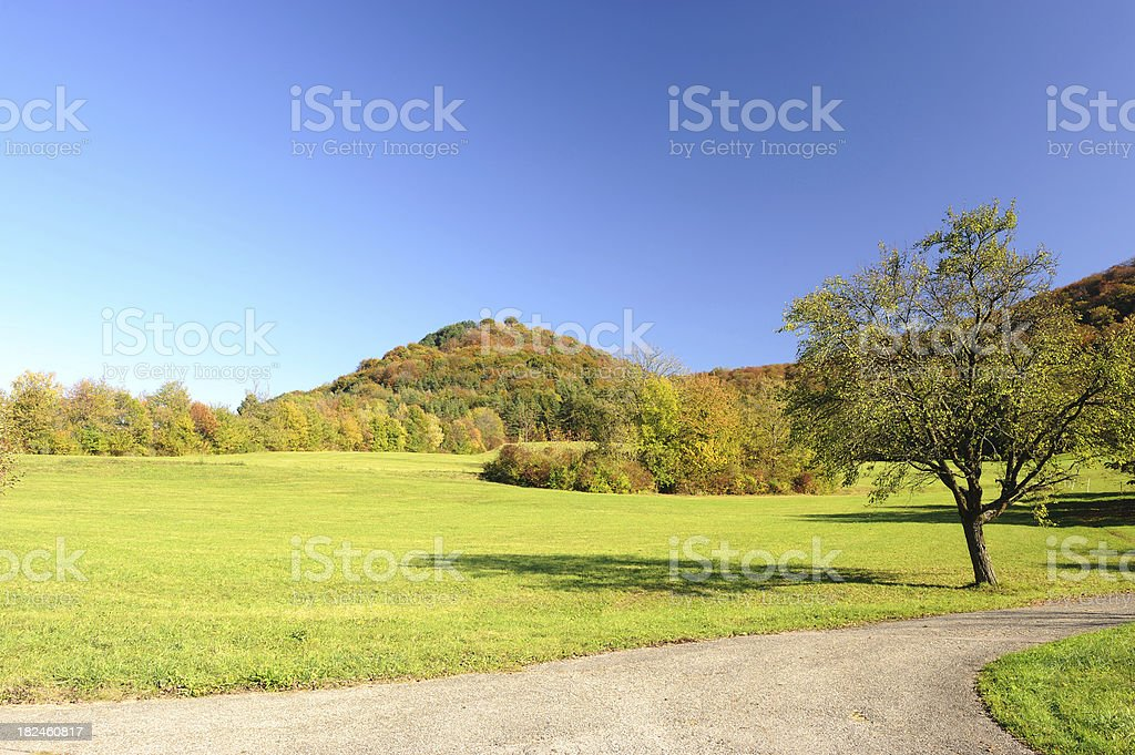 Swabian Mountains Fall Summer Day royalty-free stock photo