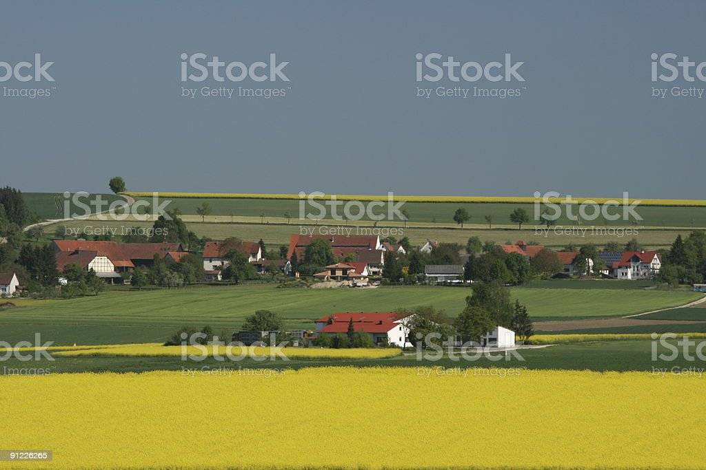 Swabian Town in Yellow Spring stock photo