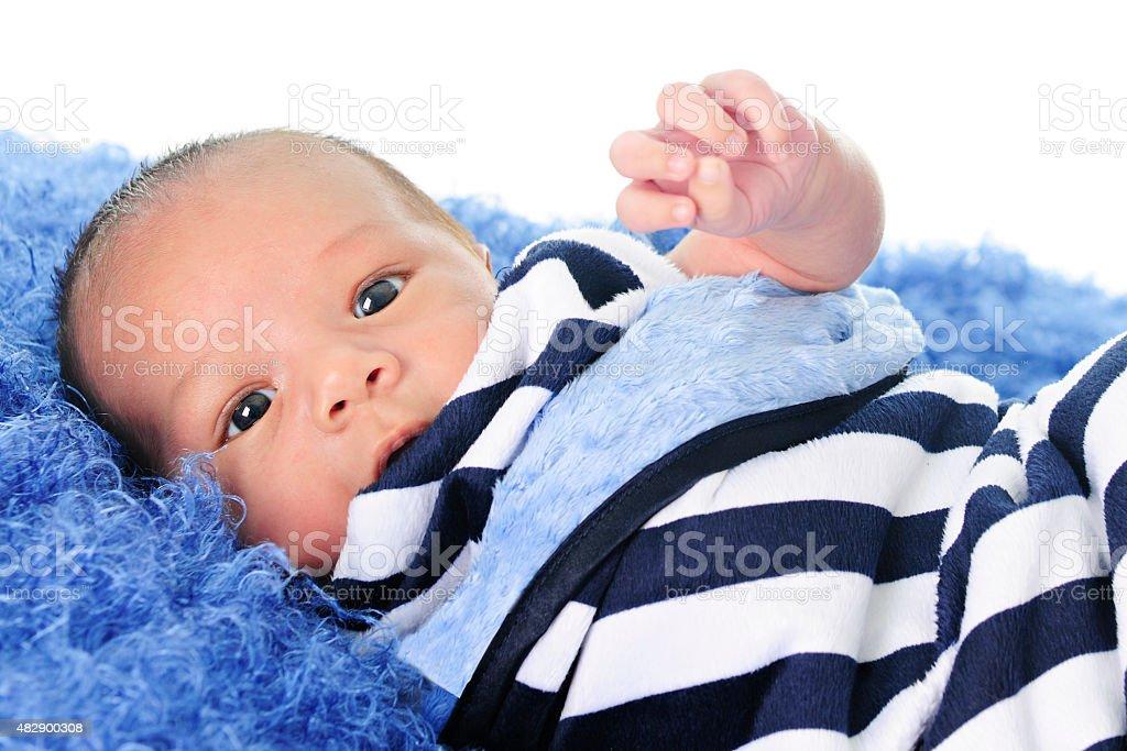 Swaddled Newborn stock photo