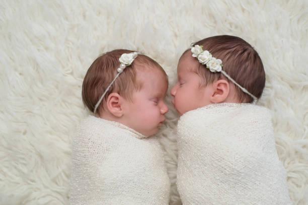 ragazze gemelle appena 2000 - gemelle foto e immagini stock