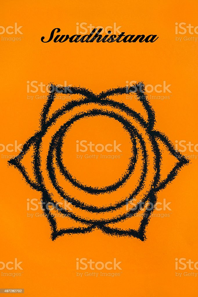 Swadhisthana chakra.Isolated stock photo