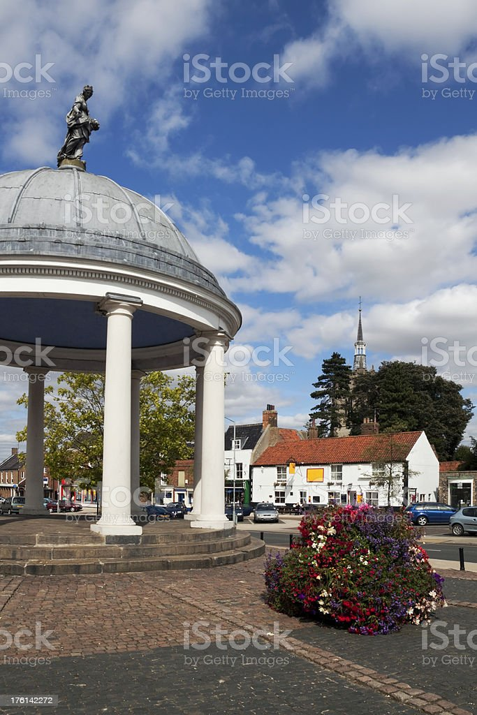 Swaffham Market Place and Buttercross stock photo