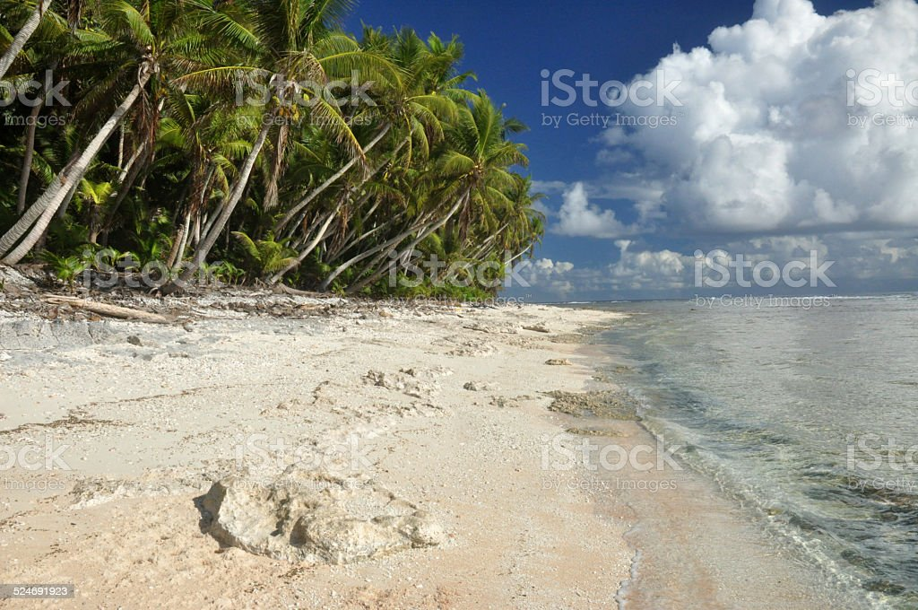 Swains Island Beach A Deserted Island In The South Pacific Stock