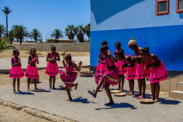 Swakopmund dancers stock photo