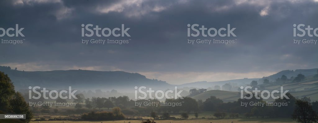 swaledale in autumn mist - Royalty-free Autumn Stock Photo