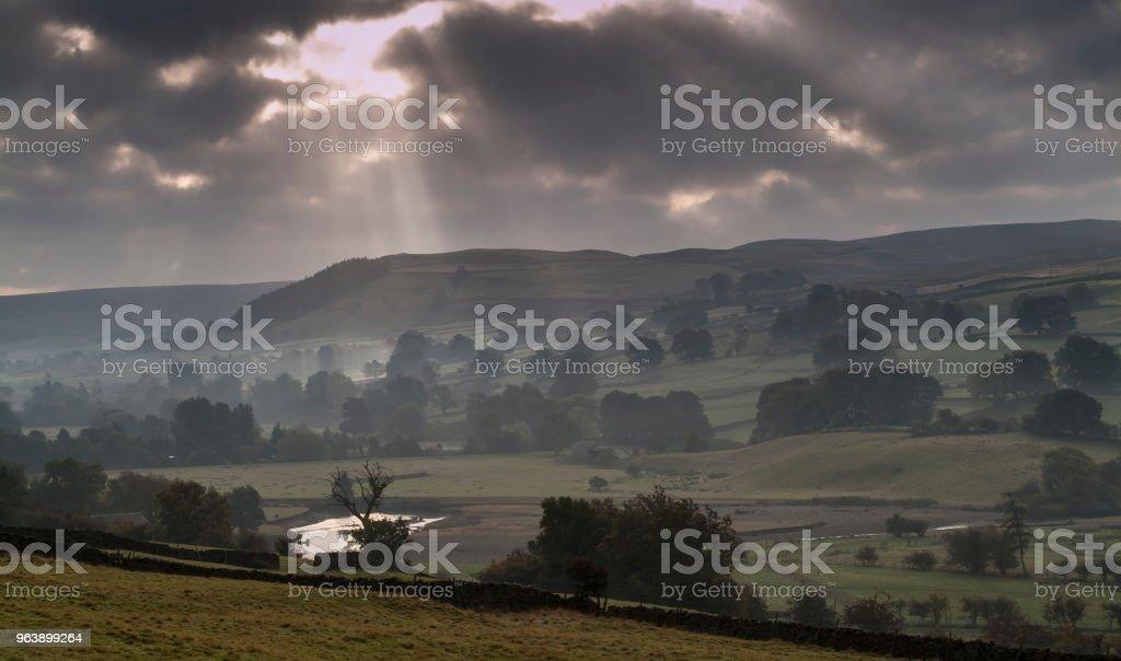 swaledale in autumn mist - Royalty-free Autumn Stock Photo