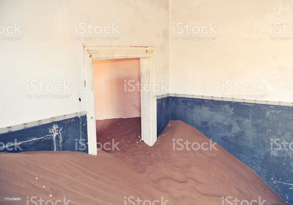 Swallowed by the desert royalty-free stock photo