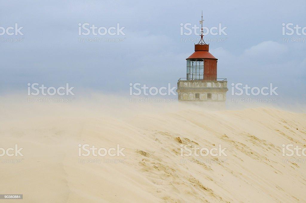 Swallowed Lighthouse stock photo