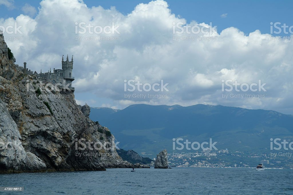 Swallow's Nest is a decorative castle of the city Yalta. stock photo