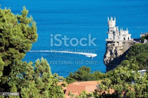 istock Swallow's nest on Crimean coast 477716693