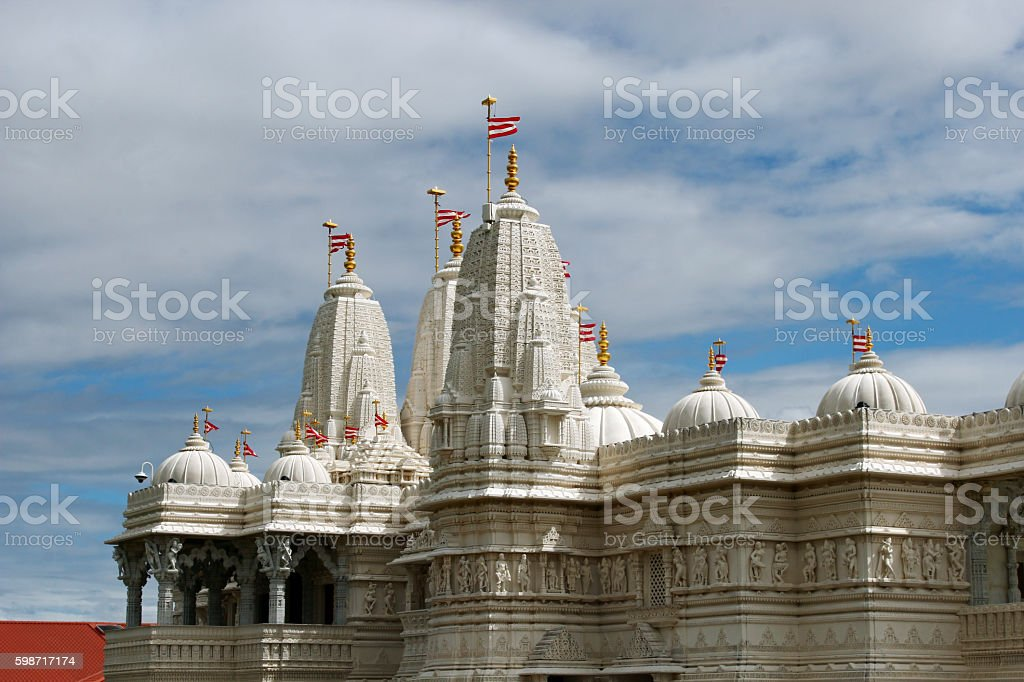 Swami Narayan Hindu Temple stock photo