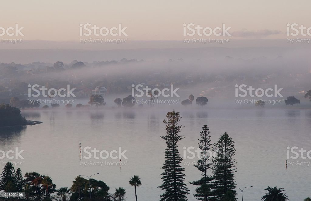 Swan River Mist stock photo