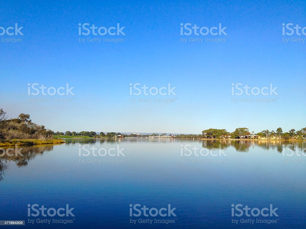 Swan River View stock photo