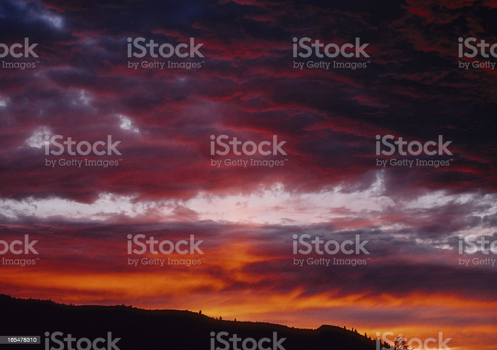 Swan Valley Sunset royalty-free stock photo