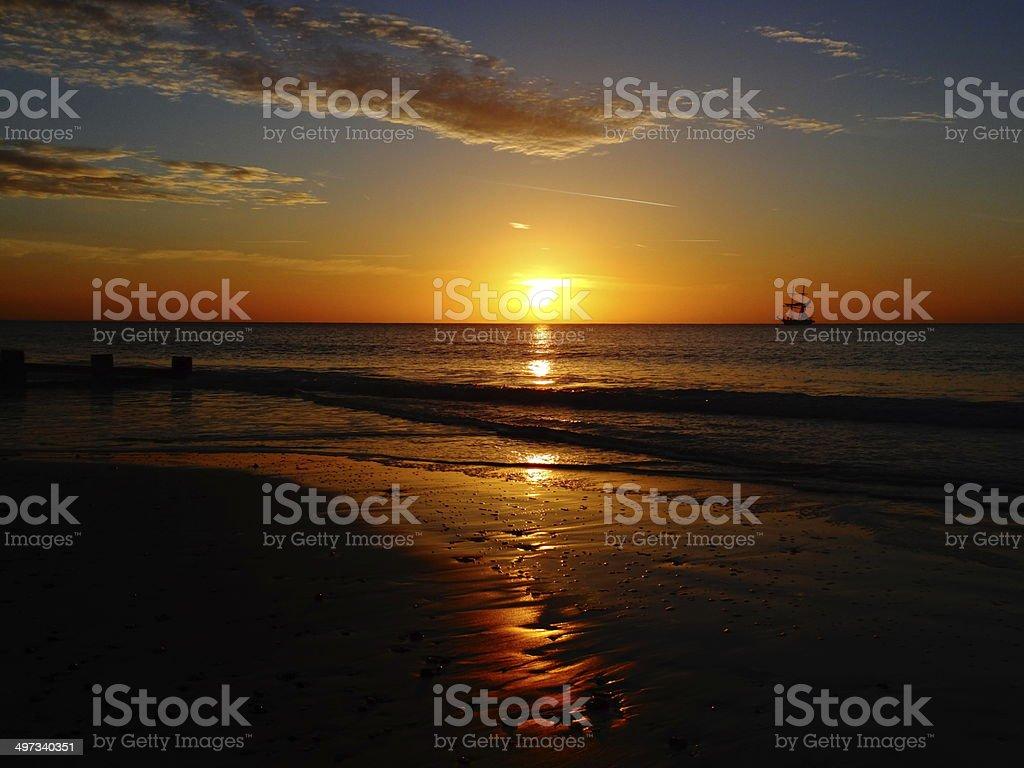 swanage sunset royalty-free stock photo