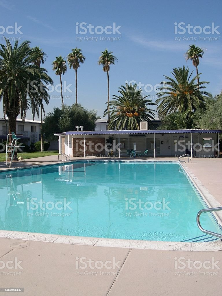 swanky hotel swimming pool stock photo