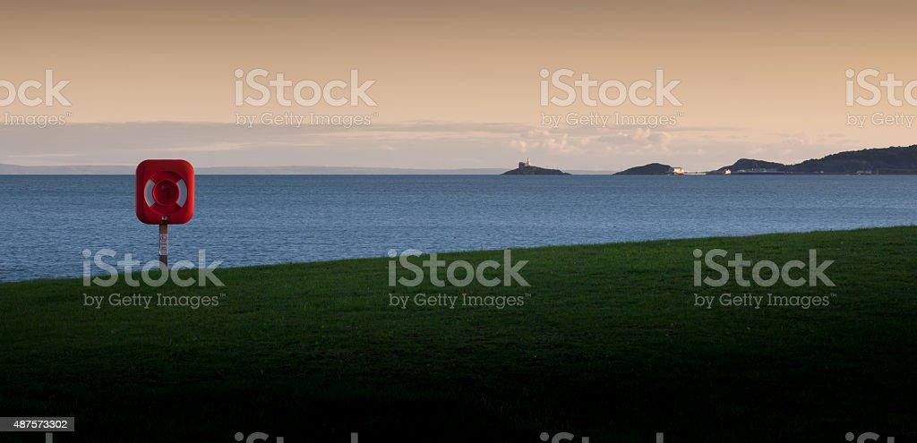 Swansea Bay and Mumbles stock photo