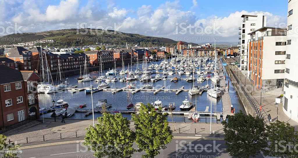 Swansea Marina, Wales stock photo