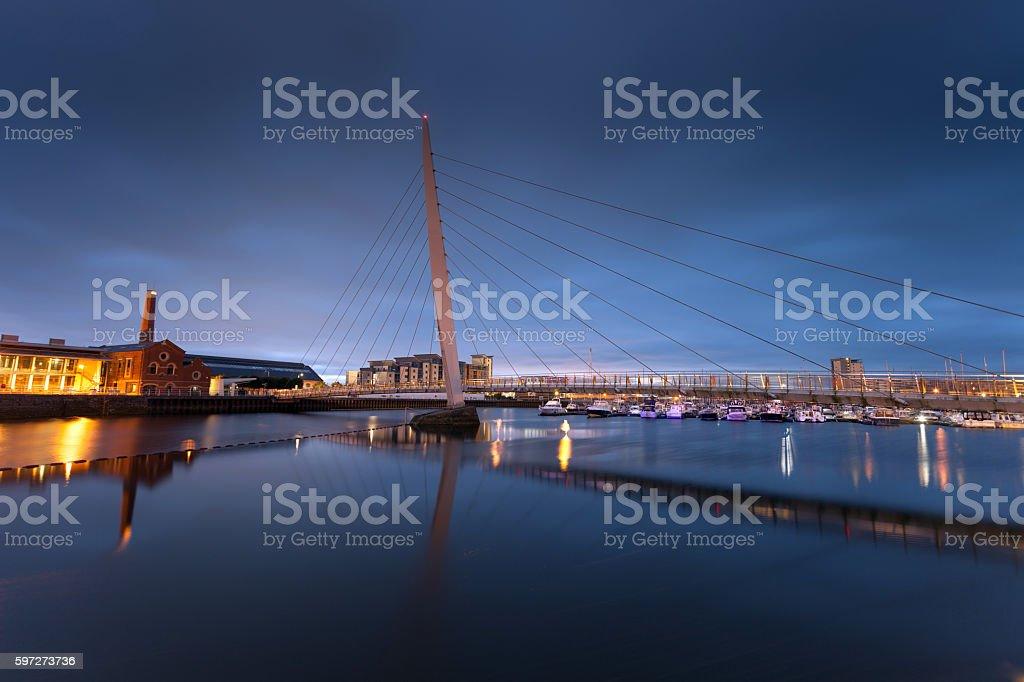 Swansea Sail Bridge royalty-free stock photo