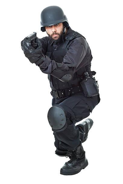 swat agent - kevlar weste stock-fotos und bilder
