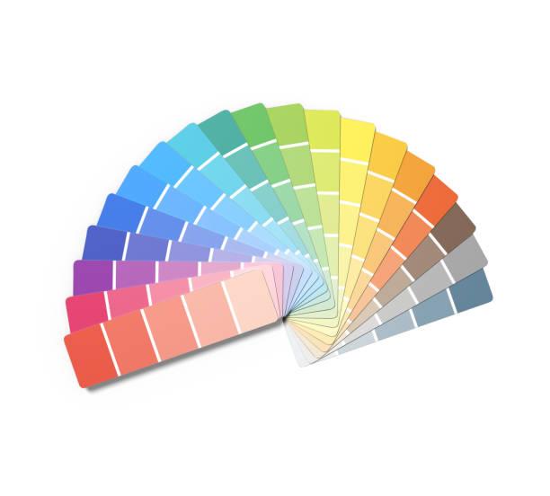 swatch book - kleurenwaaier stockfoto's en -beelden