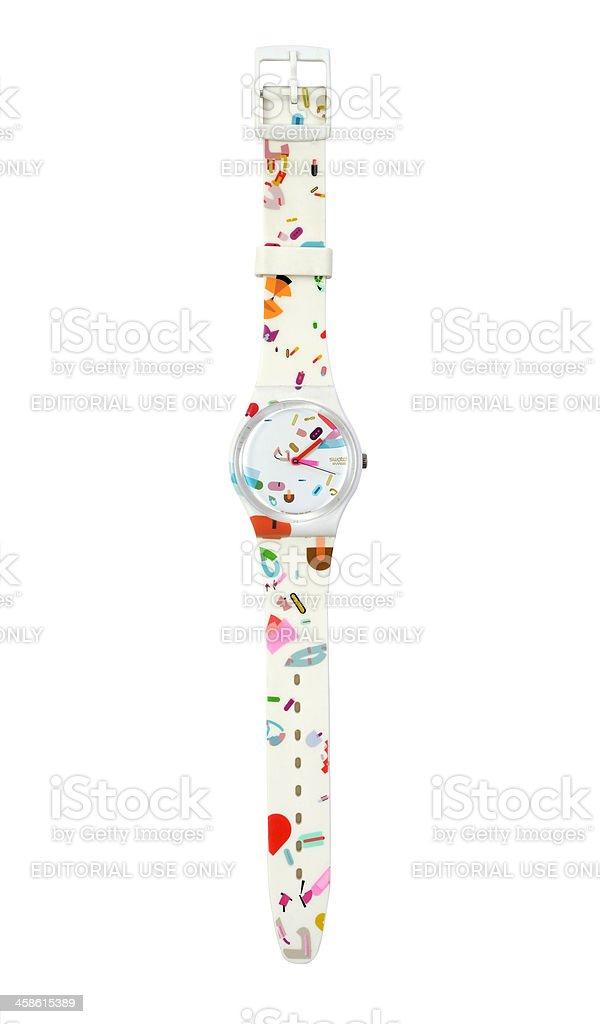 Swatch brand watches stock photo