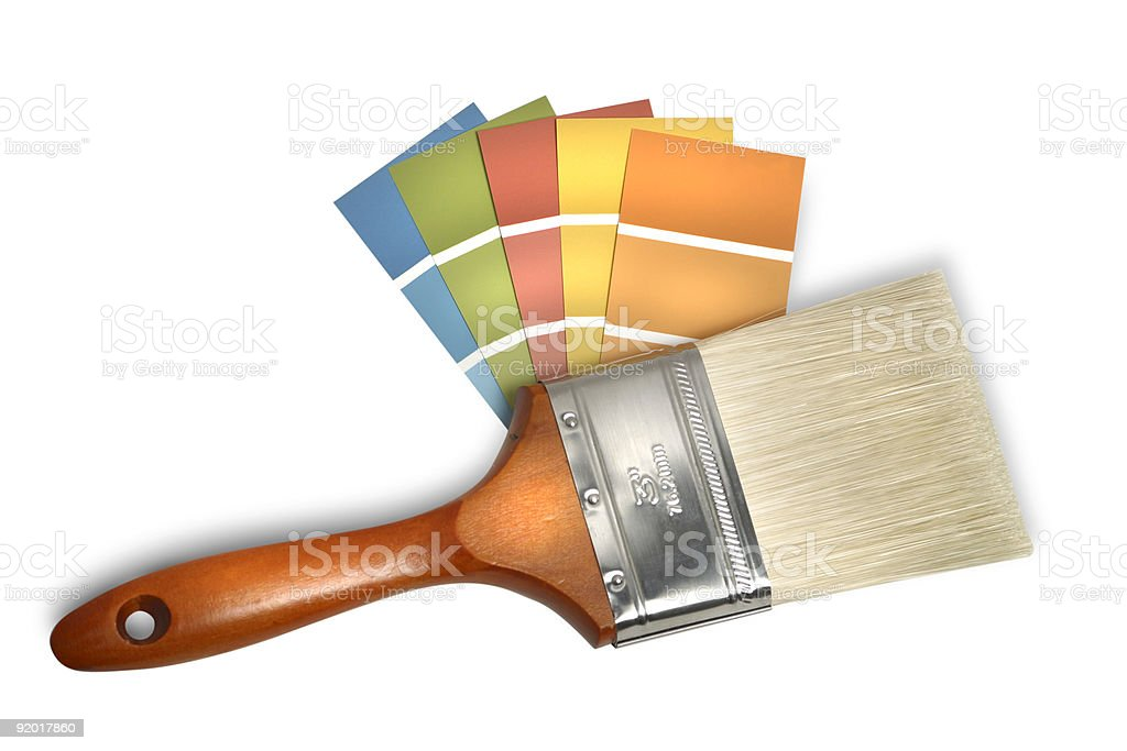 swatches and brush royalty-free stock photo