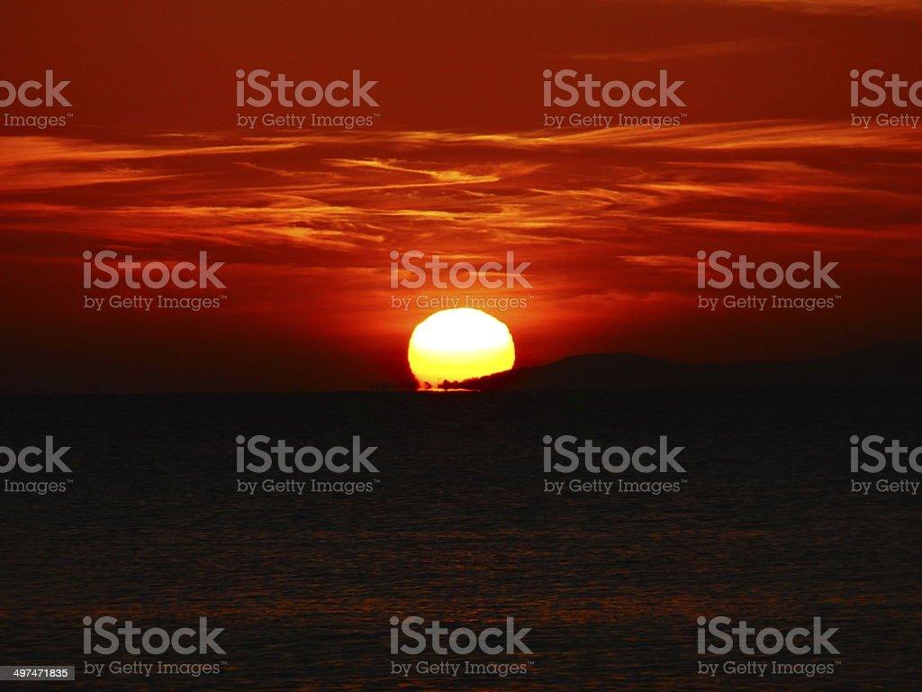 Swavange sunrise royalty-free stock photo