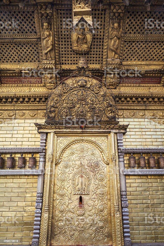Swayambhunath (monkey temple) doorway. royalty-free stock photo