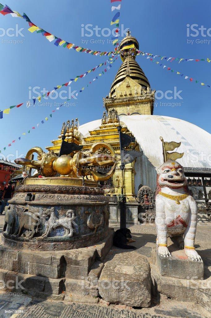Swayambhunath Stupa in Kathmandu, Nepal stock photo