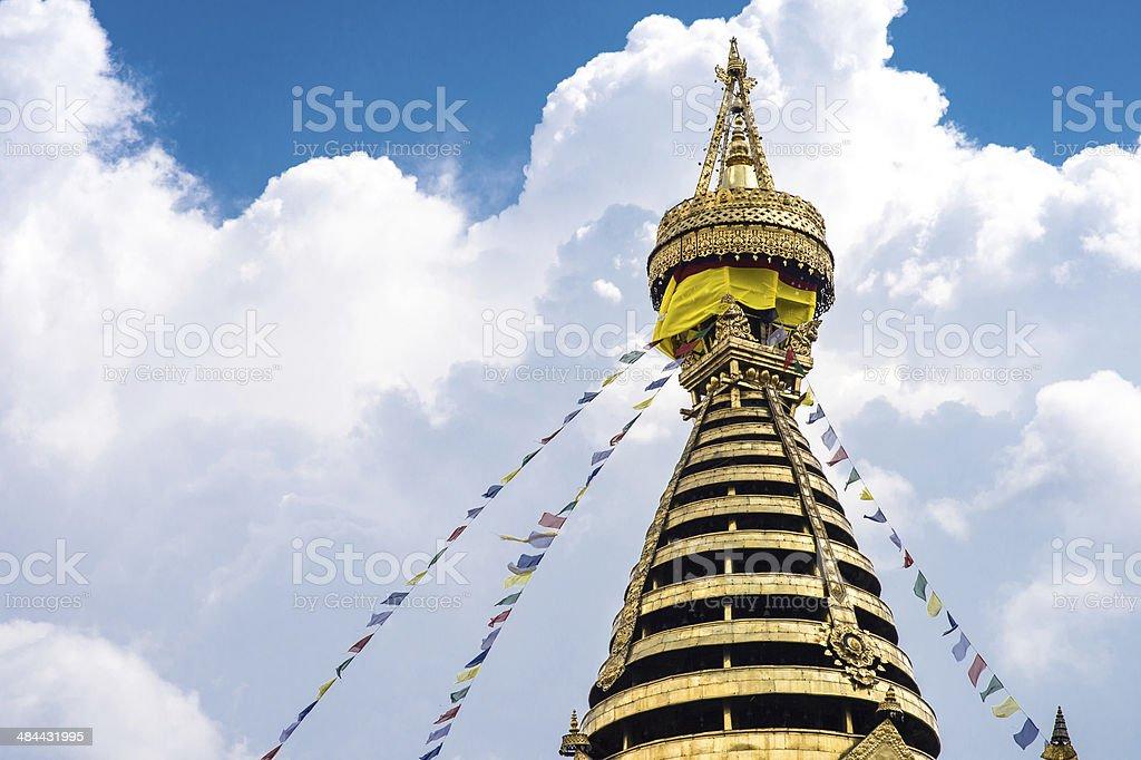 Swayambhunath Stupa in Kathmandu royalty-free stock photo