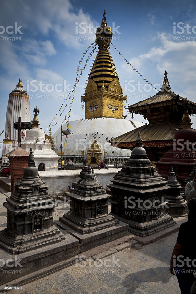 Swayambhunath Stupa ,Kathmandu, Nepal stock photo