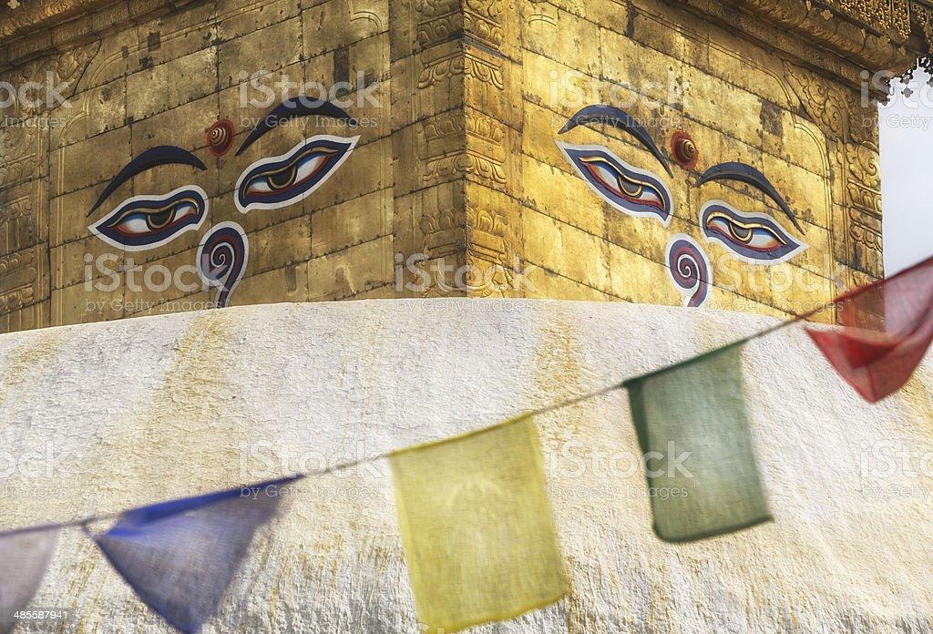 Swayambhunath Stupa, Kathmandu, Nepal royalty-free stock photo
