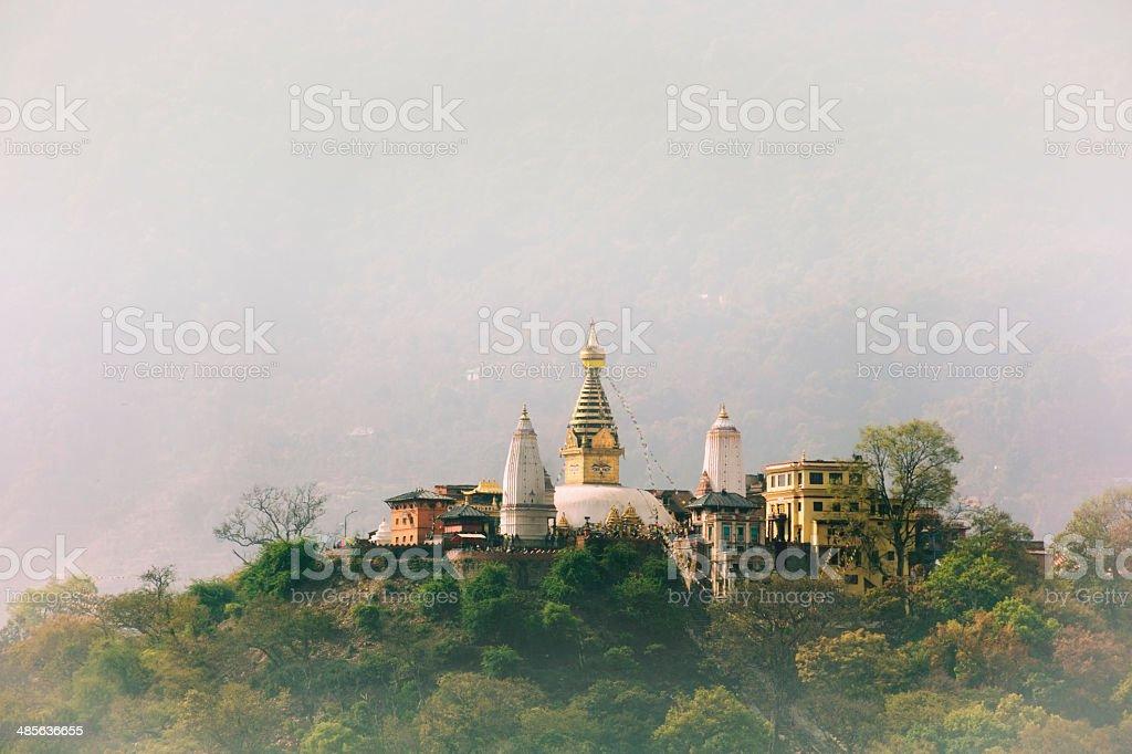 Swayambhunath Stupa, Kathmandu, Nepal. stock photo