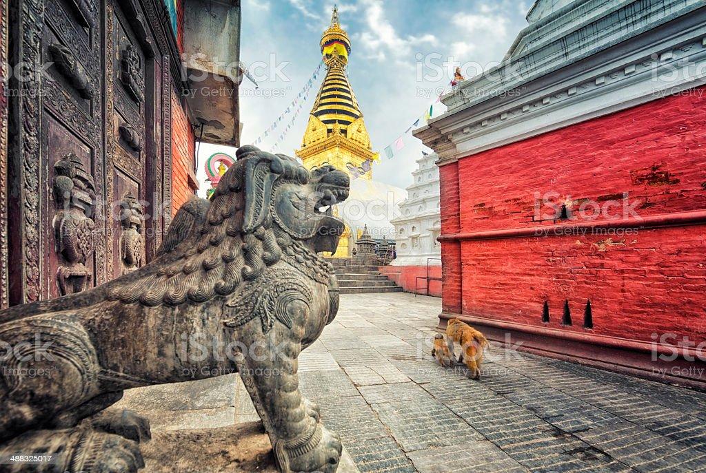 Swayambhunath Stupa, Kathmandu, Nepal stock photo